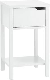 VINCENTE Table de chevet 404498400000 Dimensions L: 34.0 cm x P: 34.0 cm x H: 59.0 cm Couleur Blanc Photo no. 1
