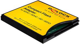 Compact Flash Adapter für SD-Speicherkarten DeLock 785300135545 Bild Nr. 1