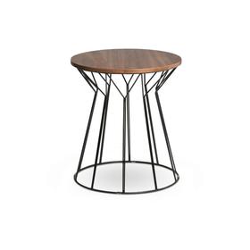 STELLA Tavolino accostabile Ø 45 cm 362088300000 Dimensioni A: 50.0 cm Colore Noce N. figura 1