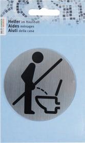 Plaque. porte debout interdit