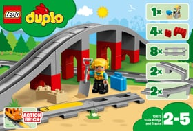Duplo Les rails et le pont du train 10872 LEGO® 748884900000 Photo no. 1