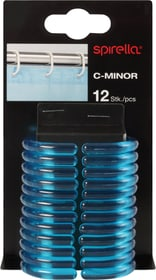 Duschvorhangringe C-Minor spirella 675024900000 Farbe Klar-Blau Grösse 4.7x4cm Bild Nr. 1