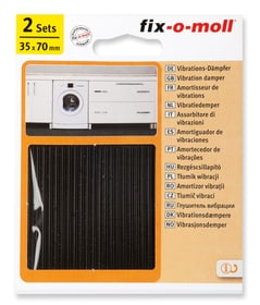 Anti-Vibrationspads-Set 2 tlg. 1.5 mm / 35 x 70 mm 2 Sets Rutsch- und Lärmstopper Fix-O-Moll 607083800000 Bild Nr. 1