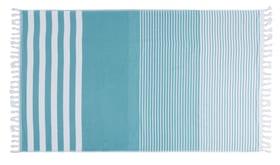 HELADIA Linge Hamam 450862822349 Couleur Bleu ciel Dimensions L: 100.0 cm x H: 170.0 cm Photo no. 1