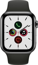 Watch Series 5 LTE 44mm space black Stainless Steel Black Sport Band Smartwatch Apple 785300146924 Photo no. 1