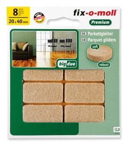 Patins pour parquet 5 mm / 40 x 20 mm 8 x Patins pour parquet Fix-O-Moll 607071100000 Photo no. 1