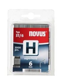 Feindrahtklammern H Typ 37/6 hart NOVUS 601258100000 Grösse 6 mm superhart / 2'000x Bild Nr. 1
