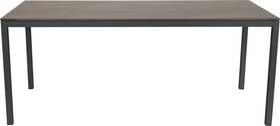 LOCARNO, Gestell Anthrazit, Platte HPL Gartentisch 753193614070 Grösse L: 140.0 cm x B: 80.0 cm x H: 74.0 cm Farbe Oxido Terra Bild Nr. 1