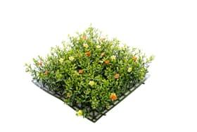 Fleurs tapis jaune/orange
