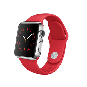 Apple Watch, 38mm Stainless Steel Case with RED Sport Band Apple 79788200000015 Bild Nr. 1