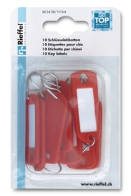 Etichette per chiavi, 10 pezzi Porta-chiavi Rieffel 605603600000 N. figura 1