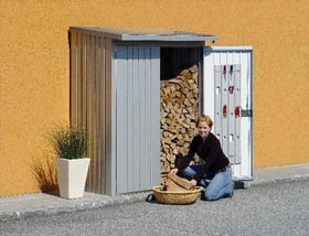 Portes pour casier de stockage Wood Stock 150 Biohort 647182300000 Couleur Argent-Métallique Photo no. 1