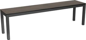 LOCARNO, Gestell Anthrazit, Platte HPL Gartenbank 753193712083 Grösse L: 120.0 cm x B: 35.0 cm x H: 45.0 cm Farbe Dark grey Bild Nr. 1