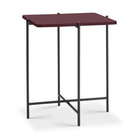 ELLY Tavolino da salotto 362255400000 Dimensioni L: 40.0 cm x P: 40.0 cm x A: 48.0 cm Colore Lampone rosso N. figura 1