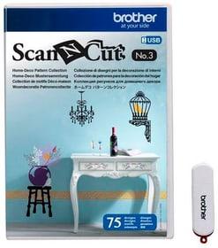 Design ScanNCut Nr. 3 Motifs de maison et de décoration Brother 785300142666 Photo no. 1