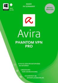 PC / Mac - Avira Phantom VPN Pro 2017 1 User 3 Devices