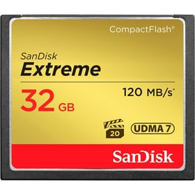 Extreme 120MB/s Compact Flash 32GB SanDisk 785300124261 Photo no. 1