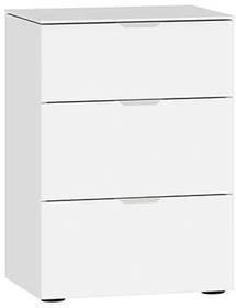 MODUL Kommode 404547400000 Grösse B: 45.0 cm x T: 43.0 cm x H: 65.0 cm Farbe Hochglanz weiss Bild Nr. 1