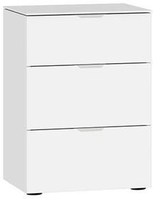 MODUL Comodino 404546200000 Dimensioni L: 45.0 cm x P: 43.0 cm x A: 65.0 cm Colore Vetro bianco satinato N. figura 1