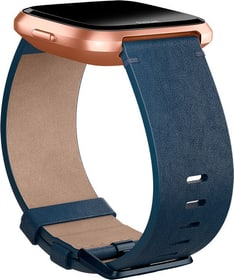 Versa pelle Horween Midnight Blue Large Cinturini Fitbit 785300134742 N. figura 1