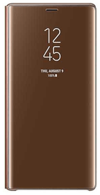 Clear View Standing Cover marron Coque Samsung 785300138244 Photo no. 1