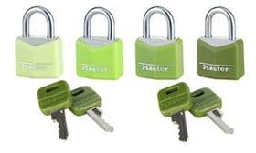 9123, 4er Set Cadenas Master Lock 614179100000 Photo no. 1