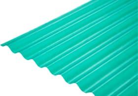 Lastre in poliestere 76/18 676418100000 Colore Verde Taglio L: 1000.0 mm x L: 2000.0 mm x P: 18.0 mm N. figura 1