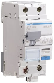 FI LS 16A 30mA 2-polig Fehlerstrom-Leitungsschutzschalter Hager 612103100000 Bild Nr. 1