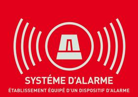 Warnaufkleber Alarm (französisch) Alarm-Zubehör Abus 614131700000 Bild Nr. 1