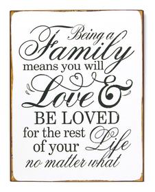 FAMILY & LOVE Targa decorativa 431824725253 Dimensioni L: 26.5 cm x P: 0.5 cm x A: 35.0 cm N. figura 1