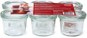 Vasetto di vetro con bordo arrotondato-Set Weck 703703500000 N. figura 1