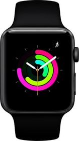 Watch Series3 GPS 42mm Space Grey Aluminium Case with Black Sport Band Smartwatch Apple 785300139130 Photo no. 1