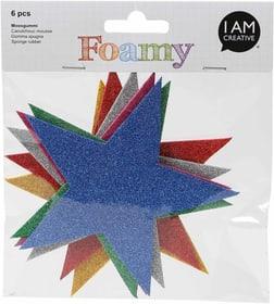 FOAMY, Sterne Glitter, 11X11cm, 6 Stk 666779000000 Bild Nr. 1