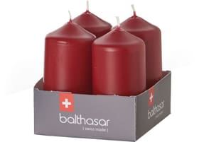 Zylinderkerze Kerze Balthasar 656205000003 Farbe Bordeaux Grösse ø: 4.0 cm x H: 8.0 cm Bild Nr. 1