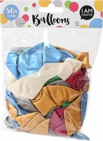 Luftballons ca. 30 cm, metallic, 50 Stk. 666784300000 Bild Nr. 1