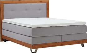 MASSIVA Lit Boxspring HASENA 403574600000 Dimensions L: 160.0 cm x P: 200.0 cm Couleur Gris clair Photo no. 1