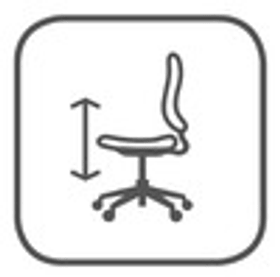 Sitzhöhe stufenlos verstellbar