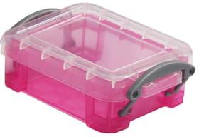 Boîte de plastique 0.07L Really Useful Box 603729800000 Taille L: 9.0 cm x L: 6.5 cm x H: 3.0 cm Couleur Rose vif Photo no. 1