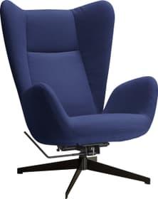 BISCUIT Fauteuil 402488700000 Dimensions L: 76.0 cm x P: 90.0 cm x H: 105.0 cm Couleur Bleu moyen Photo no. 1