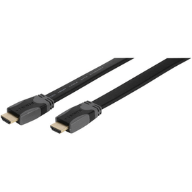 Câble ruban HDMI haute vitesse avec Ethernet HDMI mâle <-> HDMI male, plaqué or, 1,5 m Câble HDMI Vivanco 770817300000 Photo no. 1