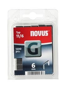 Agrafes en fil plat G Typ 11/6 Agrafeuse NOVUS 601257700000 Taille 6 mm / 1'200x Photo no. 1