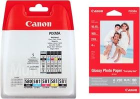 PGI-580/581 Multipack + GP-501 Fotopapier Tintenpatrone Canon 798547200000 Bild Nr. 1