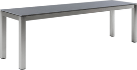 LOCARNO, Gestell Edelstahl, Platte Keramik Gartenbank 753193312073 Grösse L: 120.0 cm x B: 35.0 cm x H: 45.0 cm Farbe Beton Dunkel Bild Nr. 1