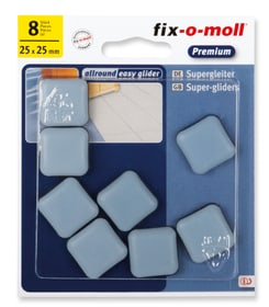 Universalgleiter 5 mm / 25 x 25 mm 8 x Fix-O-Moll 607074900000 Bild Nr. 1