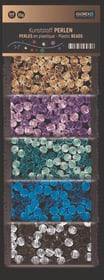 Kunststoff Perlen, transparent bunt, 6mm, 5-fach sort., 50g 608107400000 Bild Nr. 1