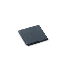 SCHIEFERPLATTE Schieferplatte 396000657418 Grösse B: 10.0 cm x T: 10.0 cm x H: 0.5 cm Farbe Schwarz Bild Nr. 1