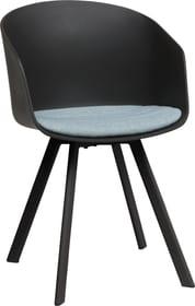 BRERA Chaise 403702100000 Dimensions L: 51.0 cm x P: 51.5 cm x H: 81.0 cm Couleur Bleu clair Photo no. 1