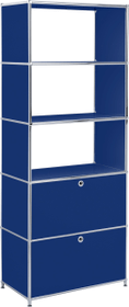 FLEXCUBE Scaffale 401815510540 Dimensioni L: 77.0 cm x P: 40.0 cm x A: 193.0 cm Colore Blu N. figura 1