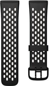 Versa 3/Sense Sportarmband Black/White Large Armband Fitbit 785300156876 Bild Nr. 1