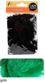 Dekofedern I AM CREATIVE 665525400060 Farbe Grün Bild Nr. 1